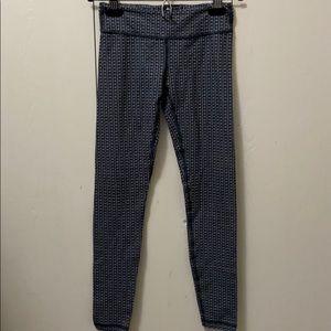 Ivivva Weave Pattern Black and Grey Leggings